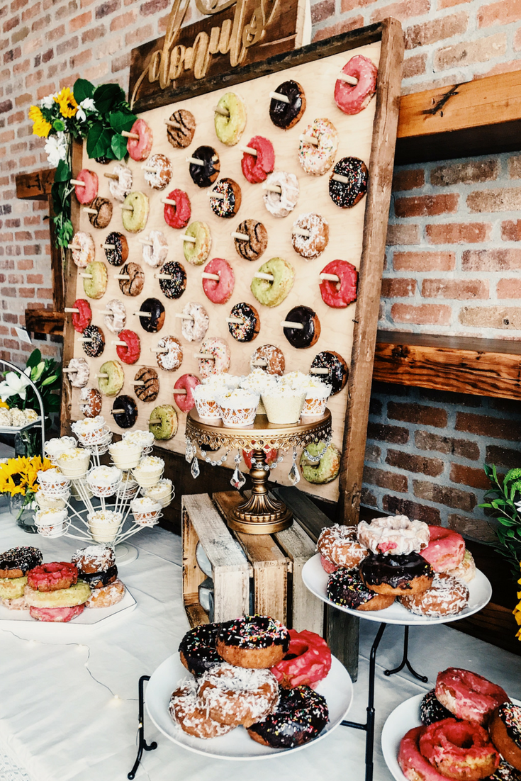 HowTo Make A Donut Wall. DIY Donut Wall Dessert Table For A Wedding Or Shower.