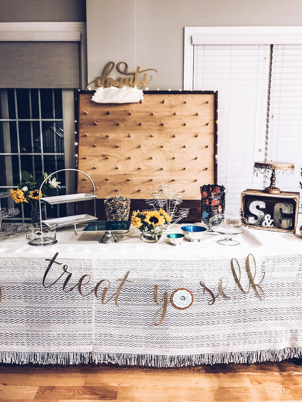 7 Steps To Creating The Best Dessert Bar For Your Party. DIY Donut Wall.