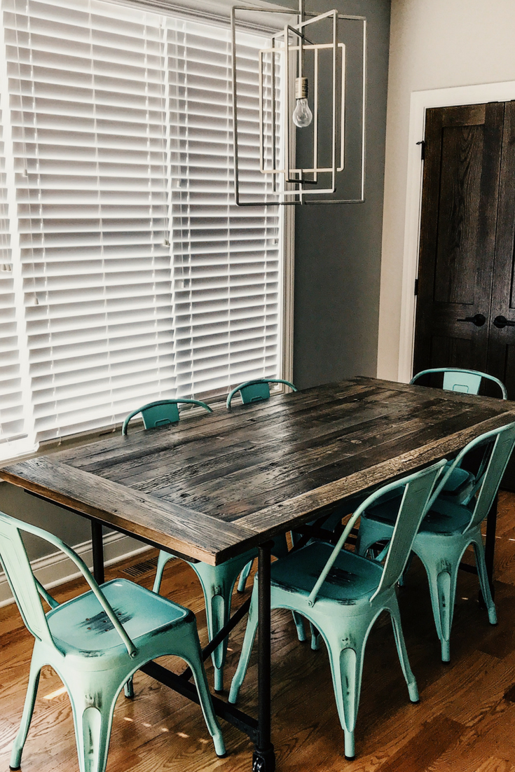 Bastille Cafe Chairs By Inmod. Kitchen Table Makeover. #sponsored #inmod