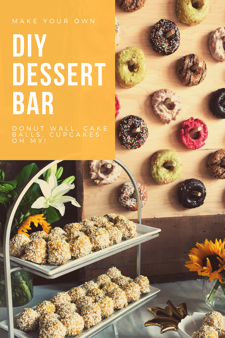 How To Create a Dessert Table That Your Guests Will Never Forget. Donut wall ideas, cake balls, cupcake carousel, lighted dessert bar.