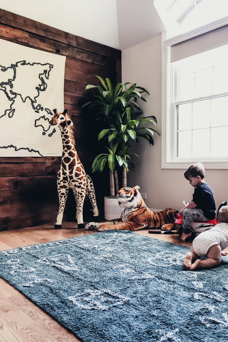 Safari Bedroom Ideas For Kids. Toddler Bedroom Ideas For Boys And Girls. Geography Themed Bedroom Vintage Maps. Wall Maps For Bedroom. Lorena Canals Washable Bedroom Decor. #sponsored #lorena #canals #safari #bedroom #ideas #vintage #map