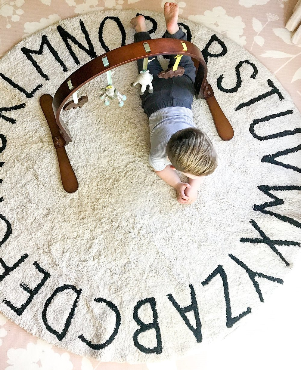 Alphabet Washable Nursery Rug. Best playroom rugs for your home. Best play mats for kids. #sponsored #lorena #canals #nursery #decor
