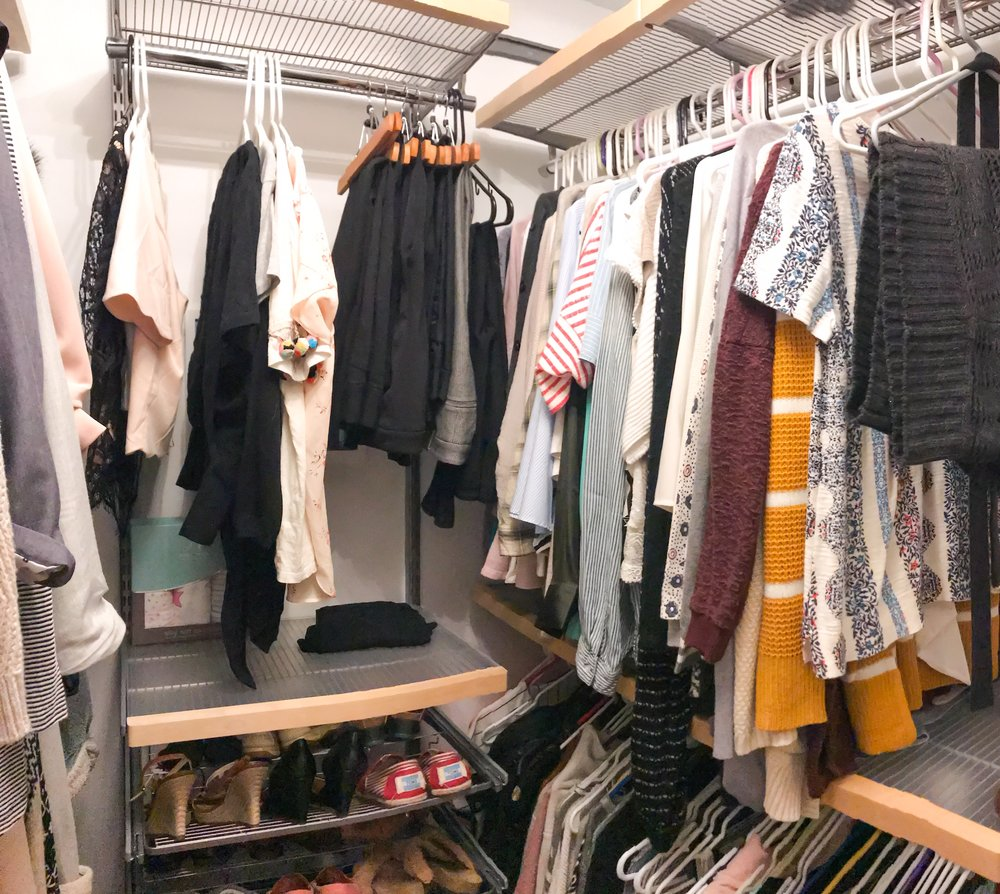 How to declutter your closet and live the KonMari way. How to decide what sparks joy. How to declutter your home.
