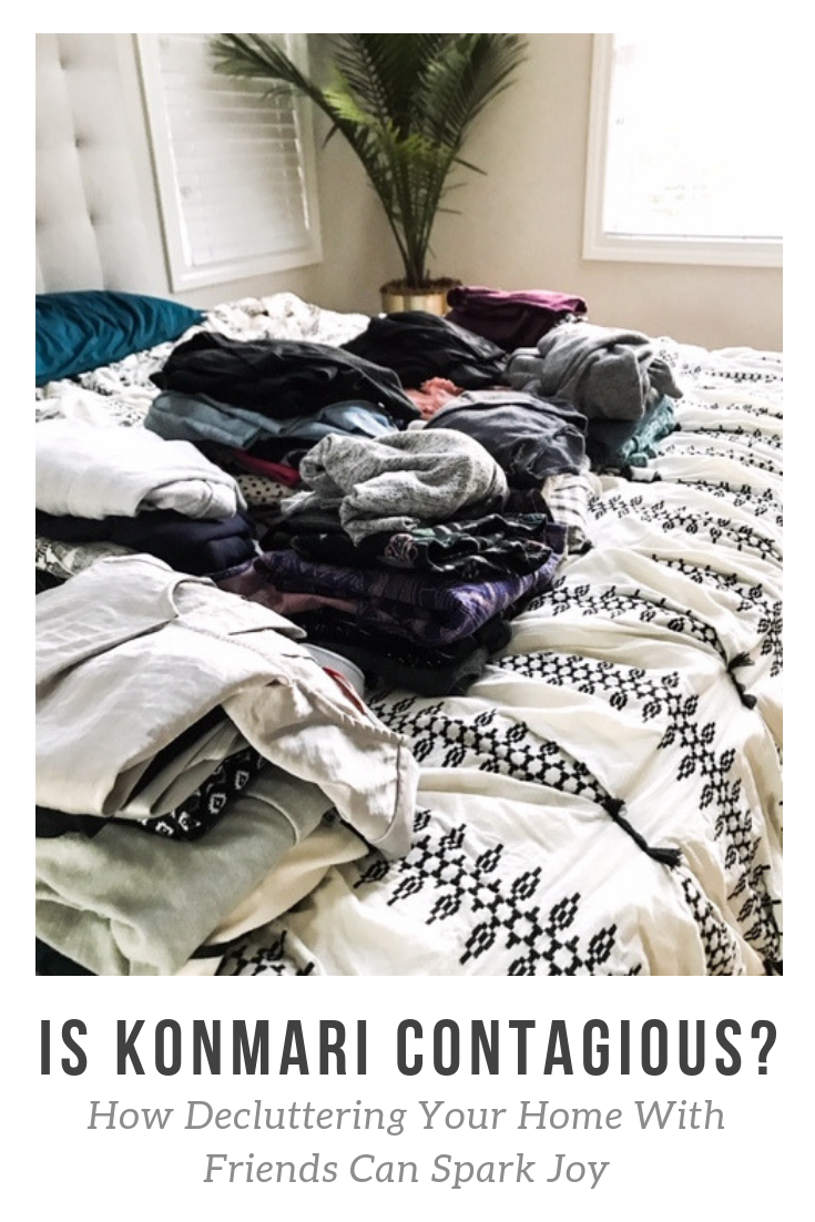 How To Enlist Your Friends To Help Purge Your Closet. How To Implement the KonMari Method. How to decide what sparks joy in your home. How to live clutter-free. How to be a minimalist. How to downsize your wardrobe. #minimalism #minimalistic #sparkjoy #organize #closet