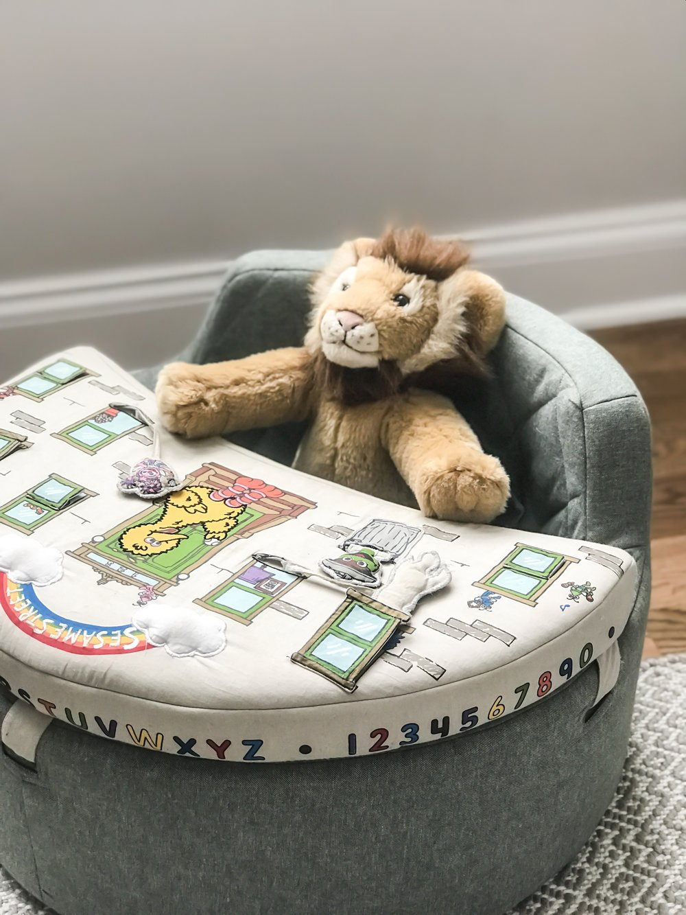 Must have activity table for nursery. Toy ideas for babies. Soft activity center for baby. #activity #center #playroom #ideas