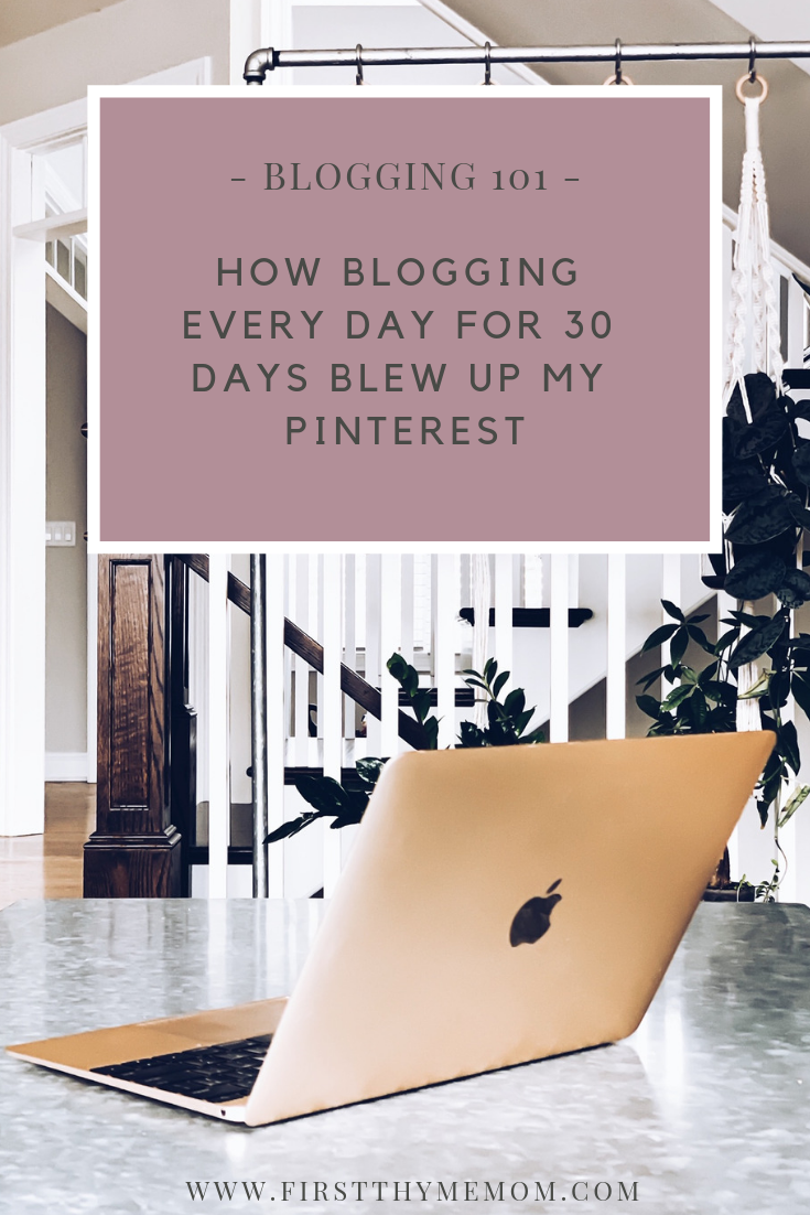 I Blogged Every Day for 30 Days, And Here Is What Happened. How regular blogging boosted my Pinterest views, followers, referrals, and blog page views and sessions. What I wrote about for 30 days of committed blogging. #How #to #grow #pinterest #get #more #pageviews