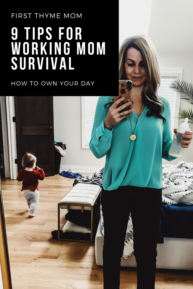 9 Tips For Working Mom Survival. Working mom schedules - how to do it all. How to master being a working mom. How to manage you and your kid's schedules. How to manage being a working mom. #working #mom #tips
