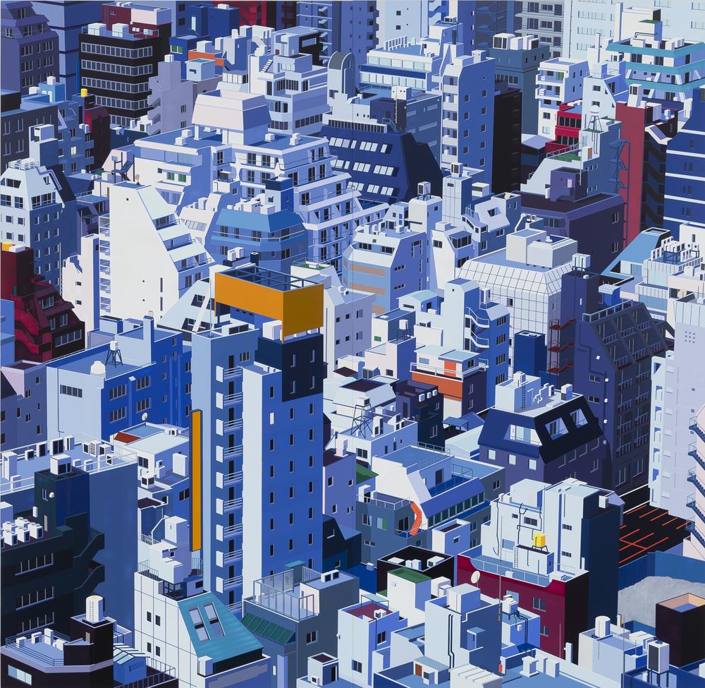 "Tokyo, 2013. Acrylic on Dibond, 84 x 86"""