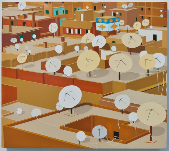 """Cairo"", 2013. Acrylic on Dibond, 15 x 13"""