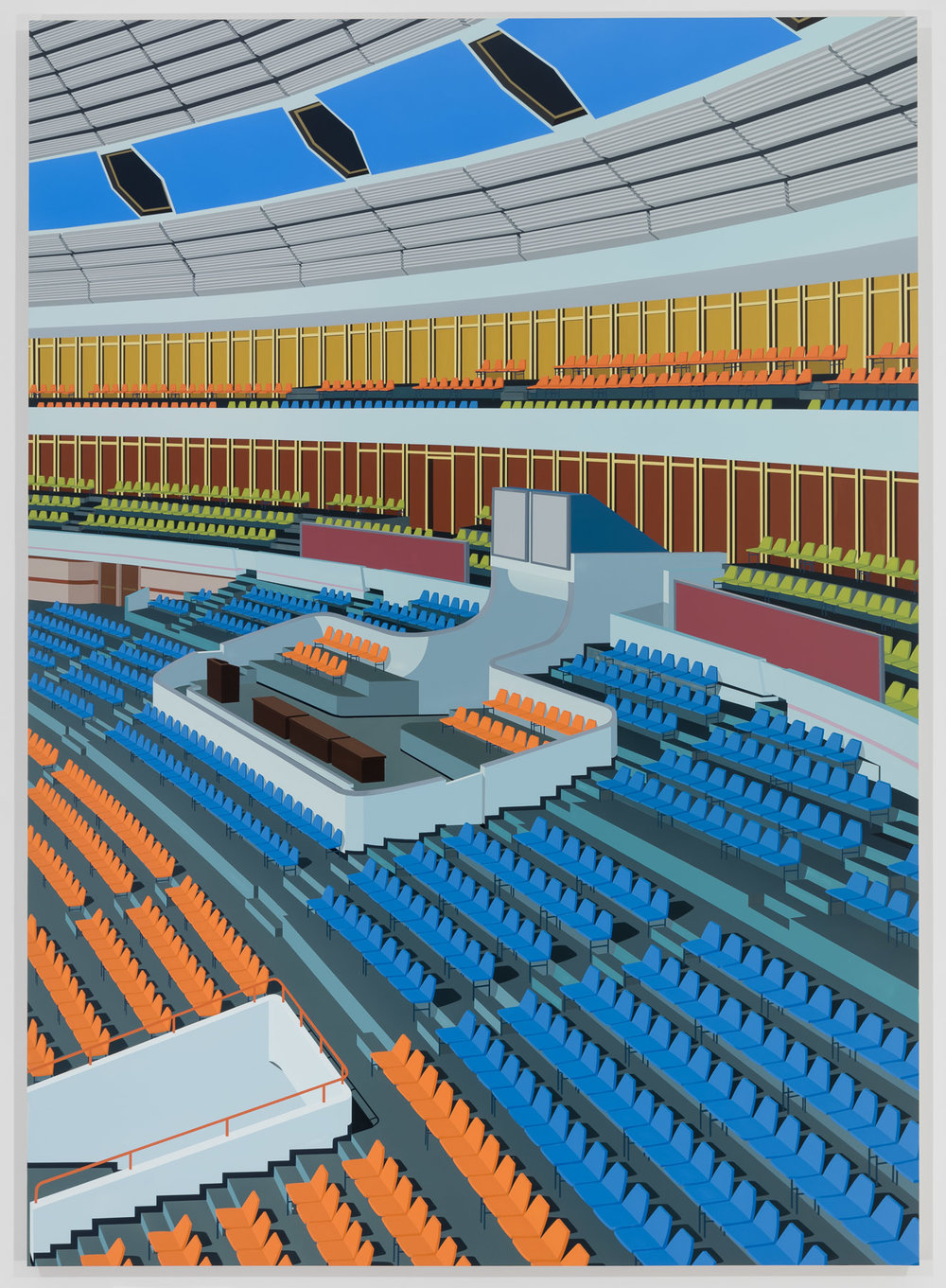 Stadium, Pyongyang, 2018. Acrylic on Dibond, 84 x 60 inches (213.4 x 152.4 cm)