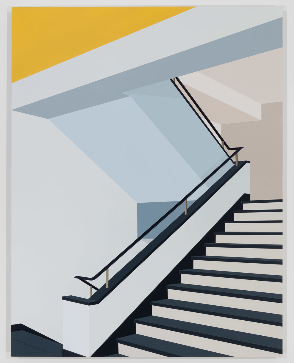 Bauhaus, Dessau, 2018. Acrylic on Dibond, 40 x 31 inches (101.6 x 78.7 cm)