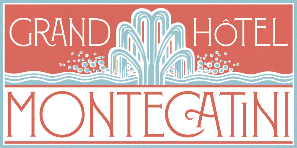 Montecatini by one of my favorite designers of all time: Louise Fili.  Montecatini takes its cues from the elegant  Stile Liberty  travel posters of Italy in the early 1900s. The font features distinctive ligatures typical of the time when Art Nouveau emerged as a worldwide phenomenon.  Image via http://www.louisefili.com