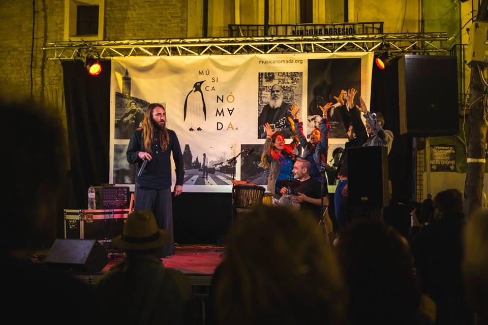 Música Nomada Fest 2017 . Psicofonías,  Gustavo Giménez y Marwan Nasser.  Performance sonora y percusión. Foto:  Hugo Falcón