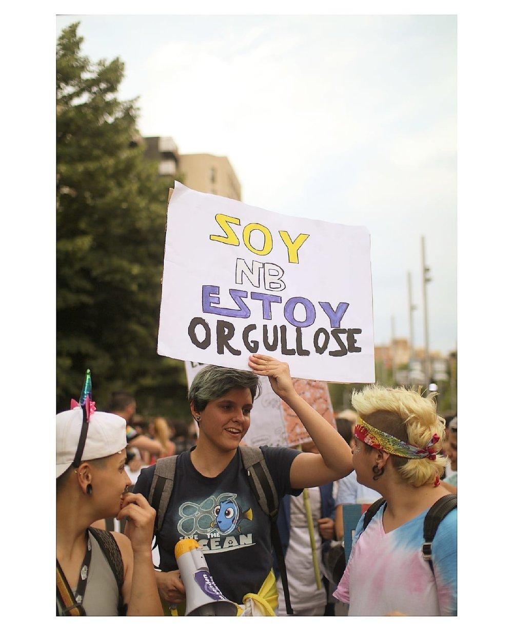 Orgullo no binarie. Orgullo ZGZ 2018. Foto: Maria T. Solanot