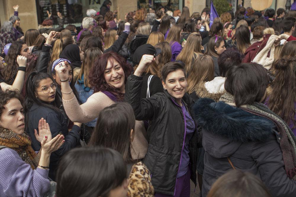 Transfeministas en el 8M de Zaragoza. Foto: Dune Solanot
