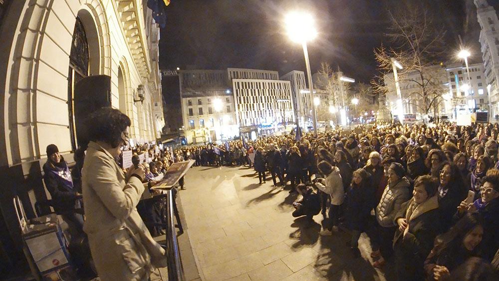 8M en Zaragoza. Arranque de la Huelga Feminista a las 00h. Foto: Dune Solanot
