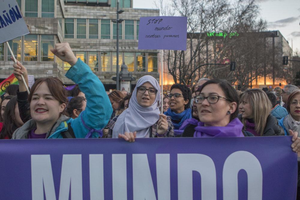 Feminismo Interseccional en la Huelga feminista del 8M en Zaragoza. Foto: Dune Solanot.