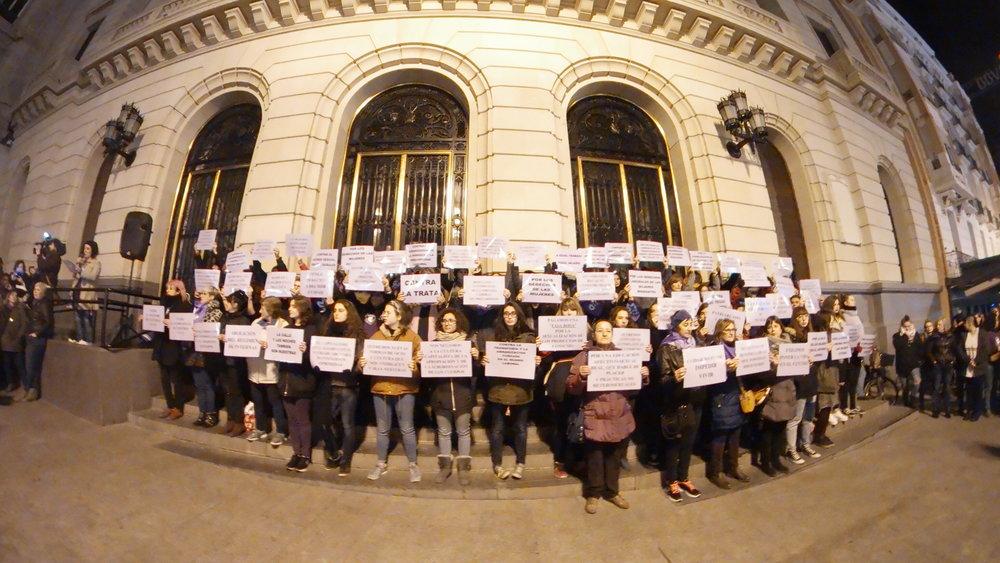 Arranca la Huelga General a las 00h del 8M. Zaragoza. foto Dune Solanot