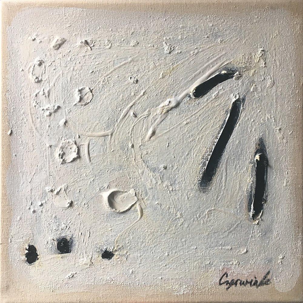 """La lune - 2018Oil on linen9 x 9 """""""