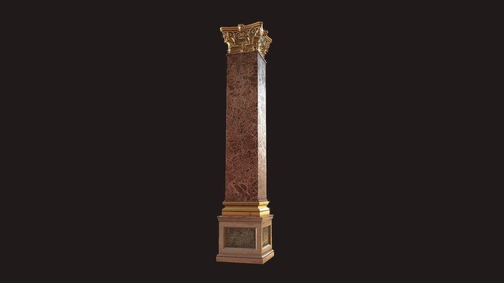Rococo Column - Close-ups + Marmoset File