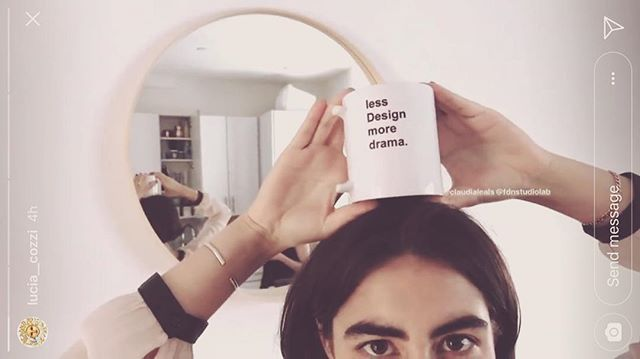 "Sending love to the new generation of empathetic  non-linear ""designers"". Sign up for her new workshop ! ""bye bye design"" ✨🔪💕@luciaaaaaaaaaaaaaaaaaaaaaaaa #fdn #fdnstudiolab #theconversation #design #designisdead #designobject #designthinking #coffee #mug #tea #newyork #brooklyn"