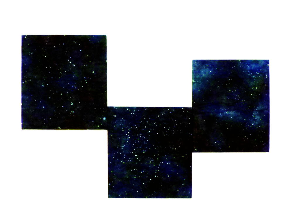 Deep Field.  2018  Indigo resist dyed canvas