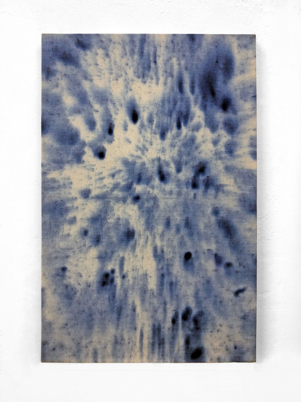 Untitled,  2018  Ice-dyed canvas