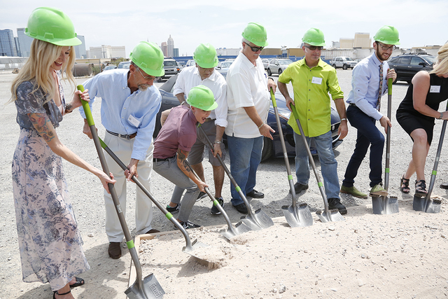 The groundbreaking for Urban Seed on Friday, July 29, 2016, on Wynn Road in Las Vegas. (Sabin Orr)