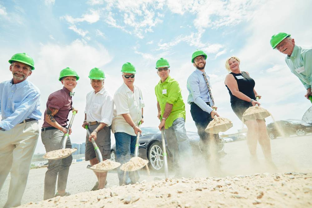 Urban Seed broke ground on a farming facility just west of the Las Vegas Strip - July 29 (Justin Vaseur)