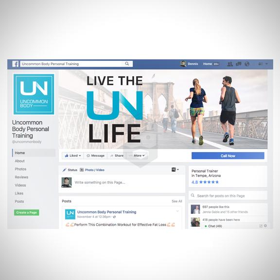 UNCOMMON BODY Social media profile pic & header.
