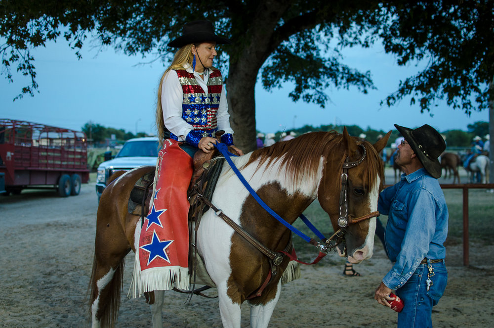 Relative to other sports, rodeos see women and men share more of an equal stage. That wasn't the case in the mid twentieth century, but formal women's rodeo associations and cultural shifts over time are moving the center of gravity closer to the 1800s when women more than held their weight. Bandera Rodeo 2017.