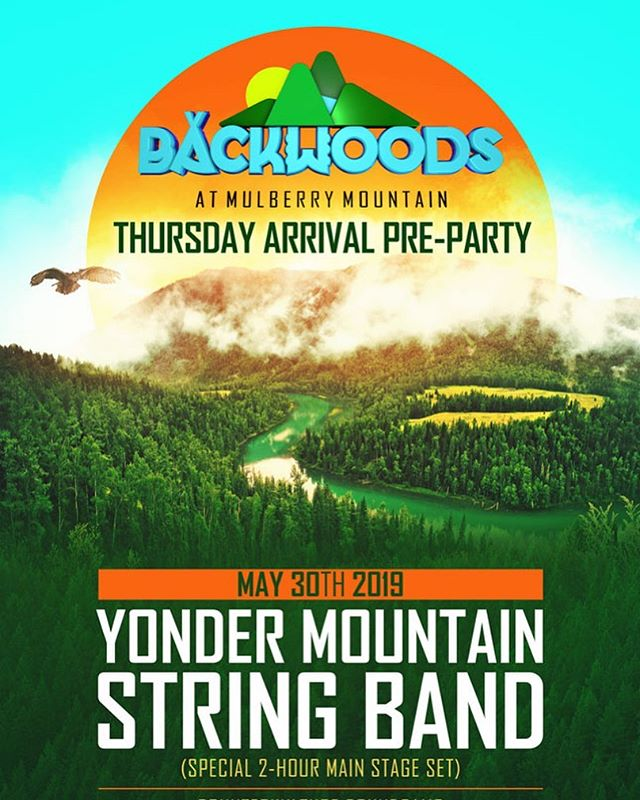 Who's joining us for the Thursday night pre-party on the mountain at Backwoods in a couple weeks?  We can't wait to get back to Arkansas.  @backwoodsmusicfestival