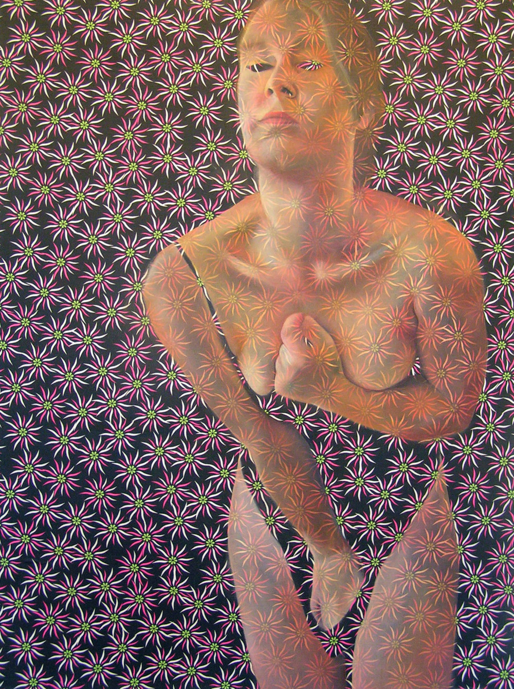 "Stretched II   Oil on fabric  48""x36""  2014"