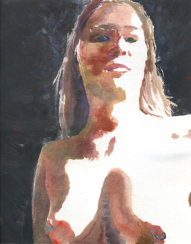 "Self Portrait   Monotype on paper   12""x9""   2016"
