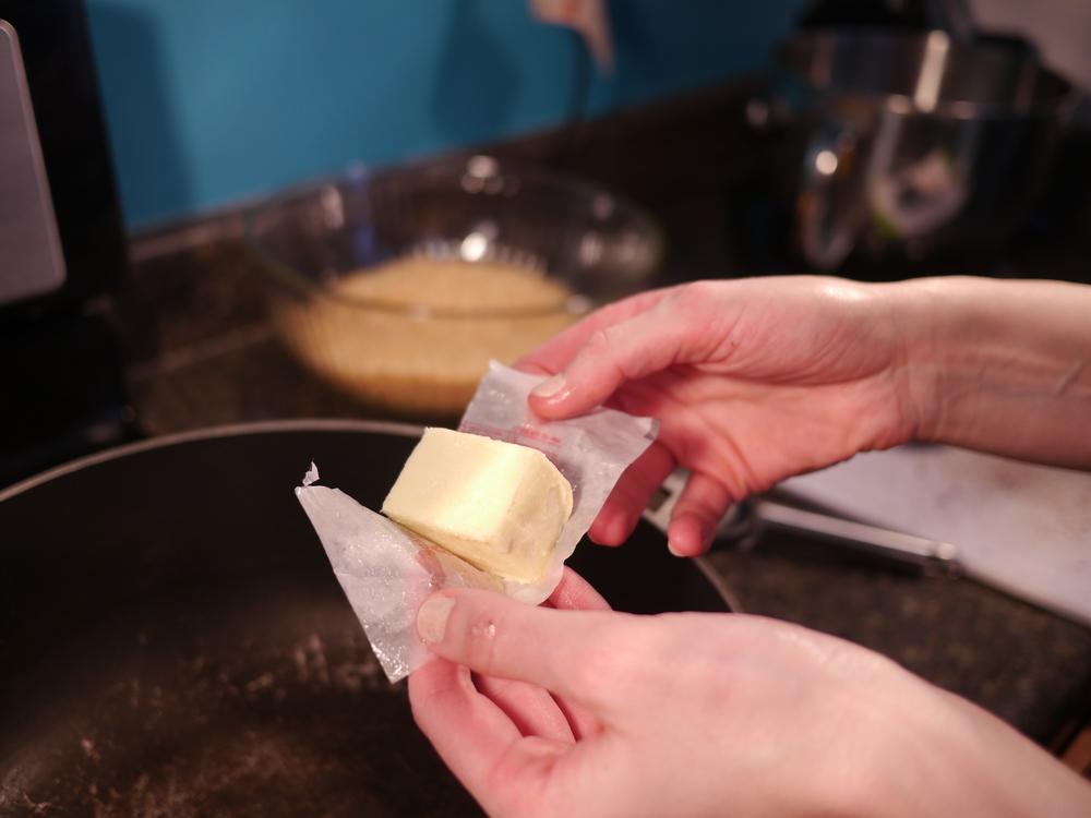 Add butter (Heat on low)