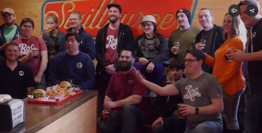 The March 2016 585 Brewers Collaborative, a gathering of Rochester region of local brewers. Meeting pictured was held at Swillburger // Playhouse.