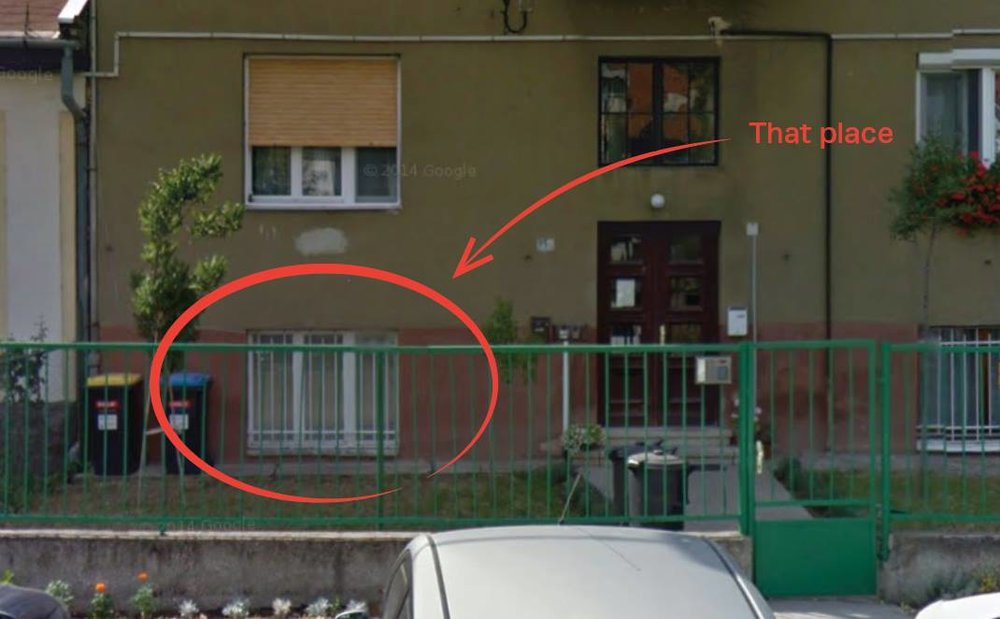 The window of our first office. We literally started out as an underground initiative. Photo credit: Google StreetView
