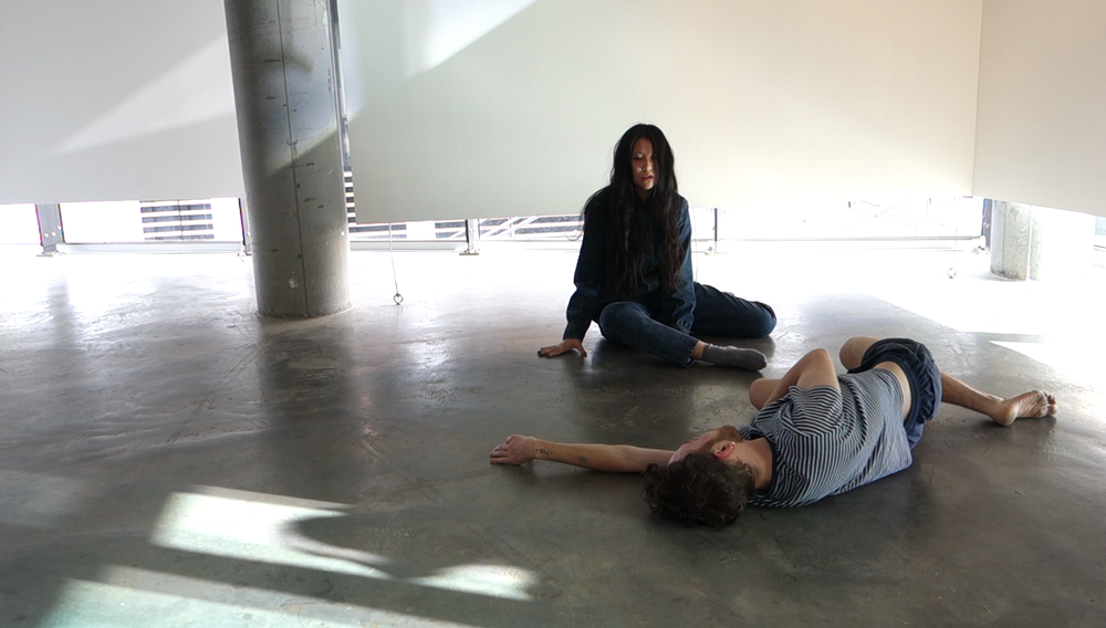 fluid feelings :: sway :: Eugene Choi  . 2018. (performance still). live performance with sound. 1 of 5 performance series - part of   grappling on the precipice of the squirt and the stream
