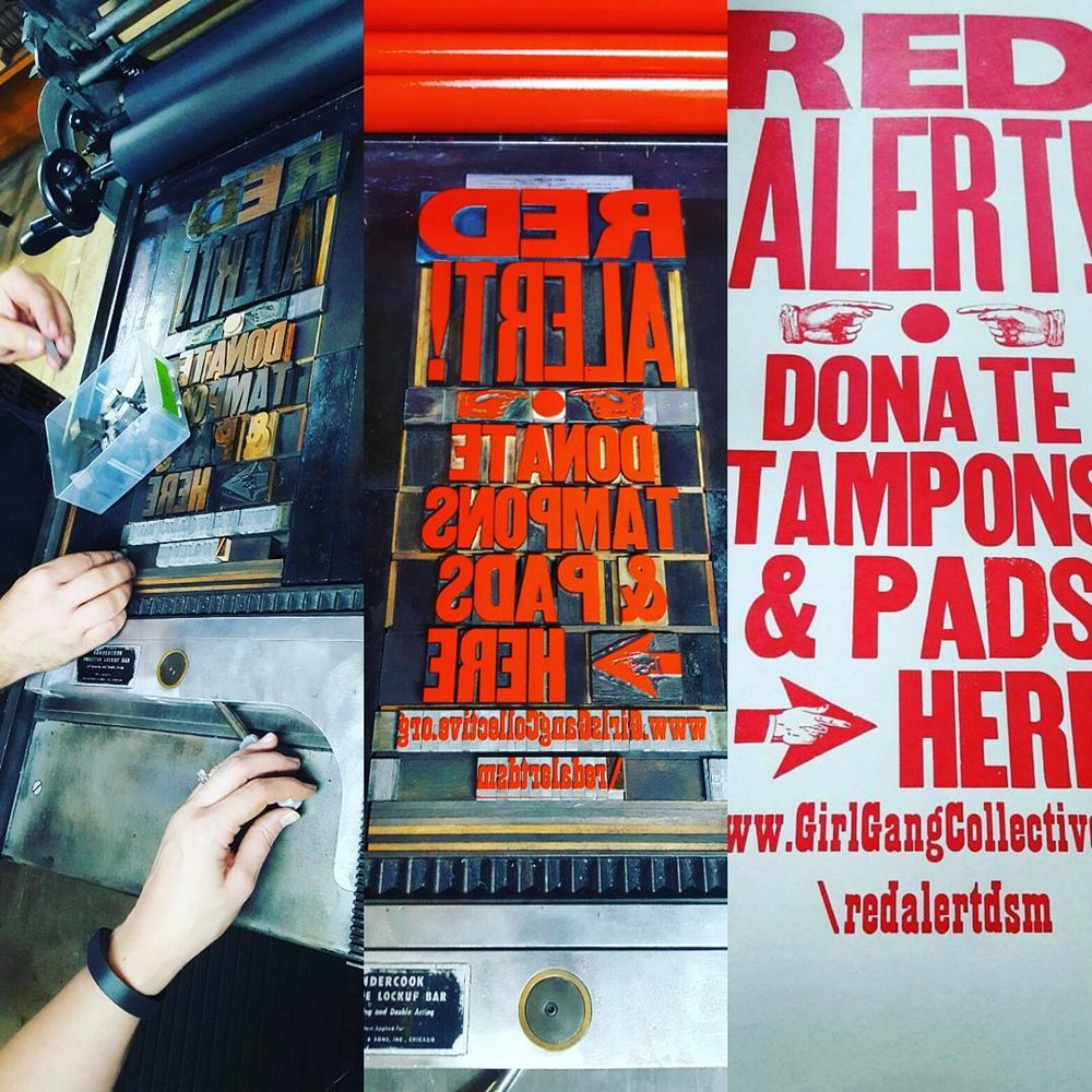 Posters from The Red Door Letterpress!