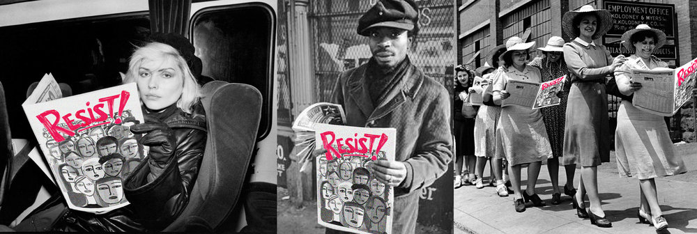 Debbie Harry © Chris Stein, Blank Panther © Emory Douglas,  International Ladies Garment Workers Union