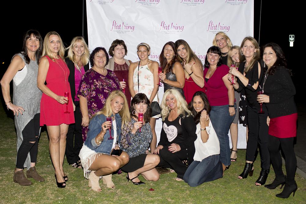 The fabulous women of Flirt Ring's Ultimate Girls' Nite.