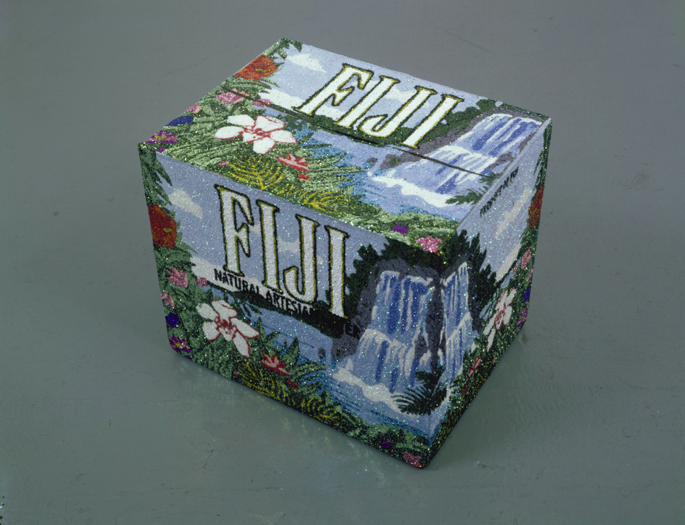 Rob Pruitt     Some of my favorite pieces are gestural modifications/upgrades of everyday objects. I saw  Big Indian  at Bard, but I couldn't find a photo of it online. Instead, feast your eyes on the more virtuosic  Un carton de Fiji.
