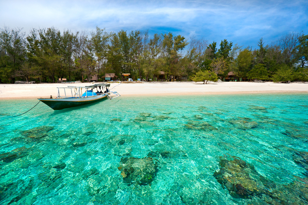 Clear ocean waters, Gili Air