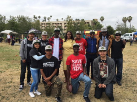Mayor Aja Brown pictured above with prospective Fresh Tracks participants