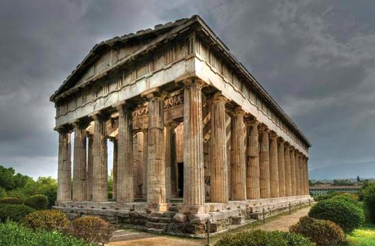 Templul lui Vulcan (Hefaistos), asa cum il poti vedea azi la Atena