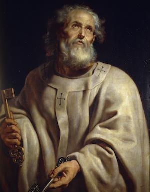 Sf.Ap. Petru purtand cheile raiului (Rubens)