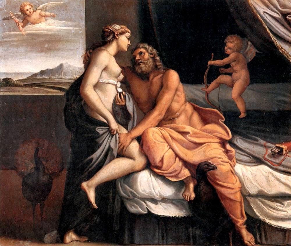 Zeus si Hera (pictura de Annibale Carracci)