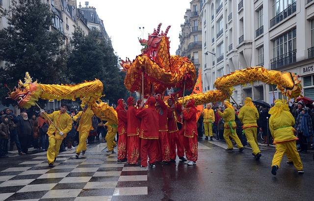 Dragonul, personajul principal care participa la sarbatorirea Noului An chinezesc.