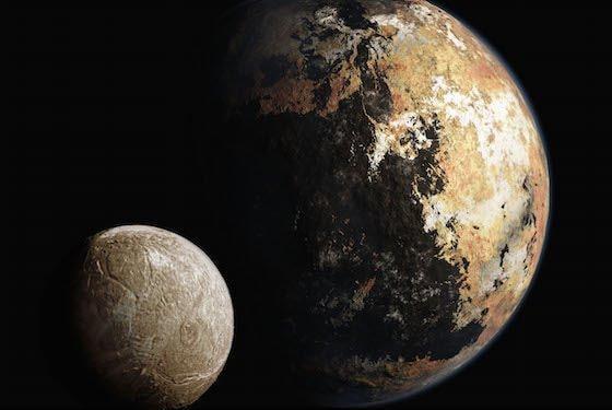 Pluton si Luna