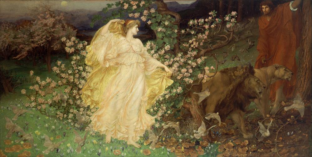 Venus si Anchises - pictura de William Blake Richmond (1889-1890)